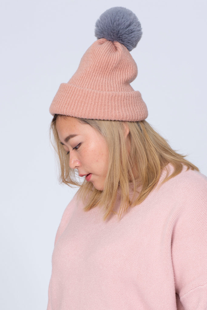 2 Wearable (Scarf/Bobble hat) In Pink