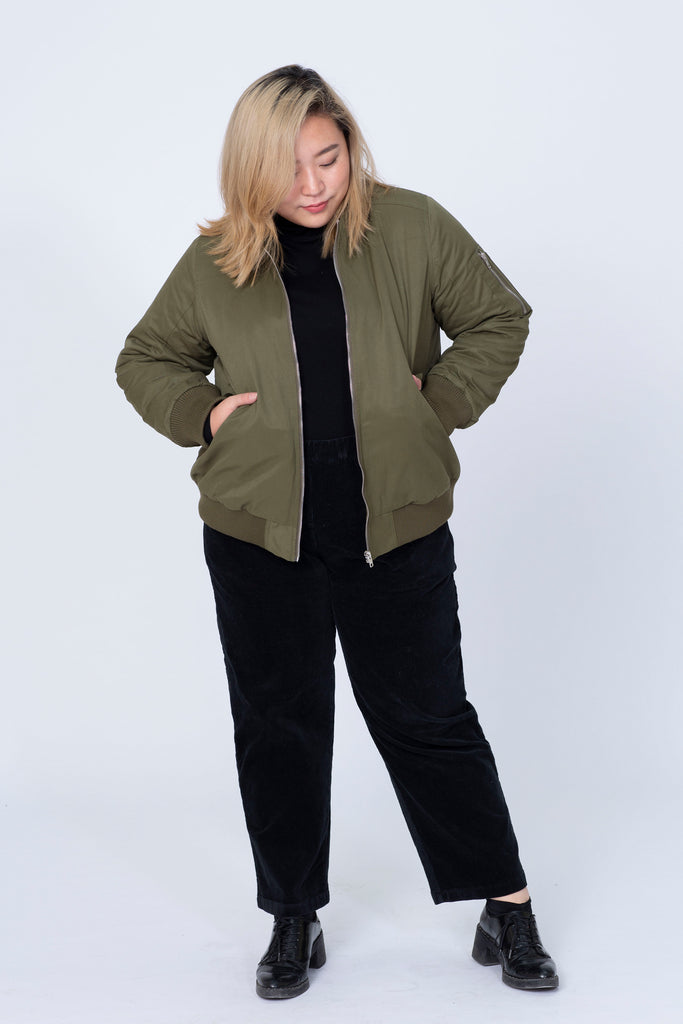 Bomber Jacket In Olive
