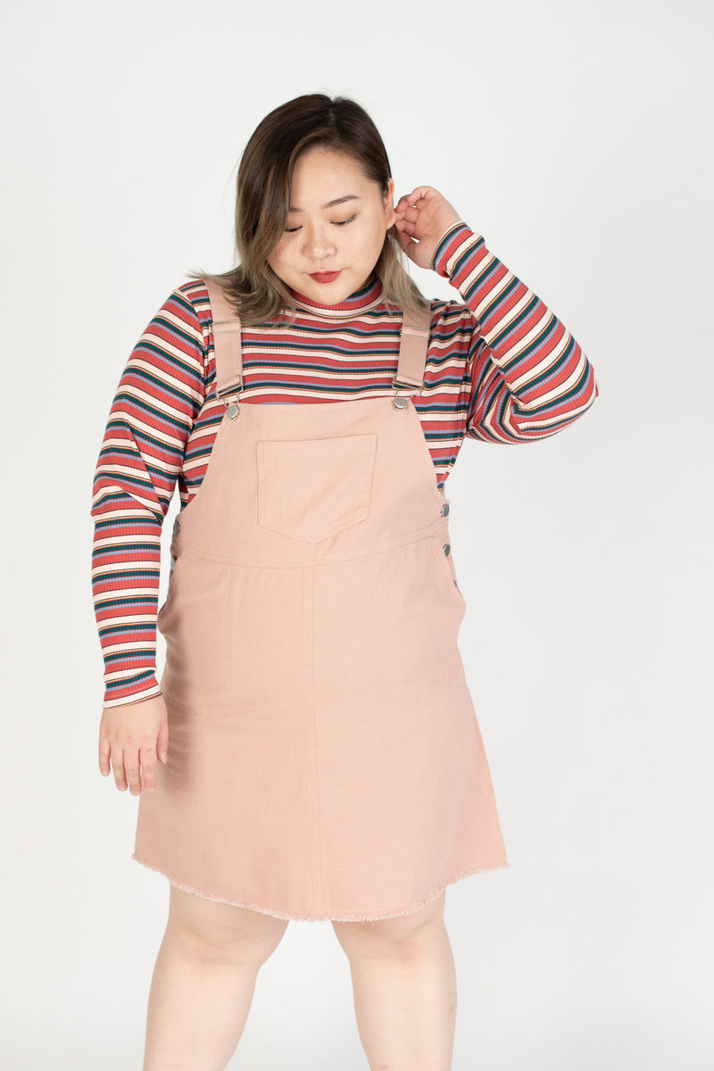 Dungarees Dress In Pink