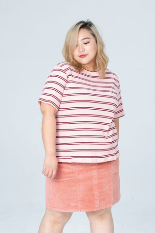 Stripe T-Shirt In Pink