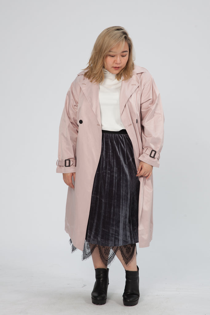 Trench Coat In Pink