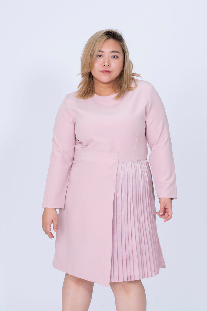 Pleated Dress In Pink