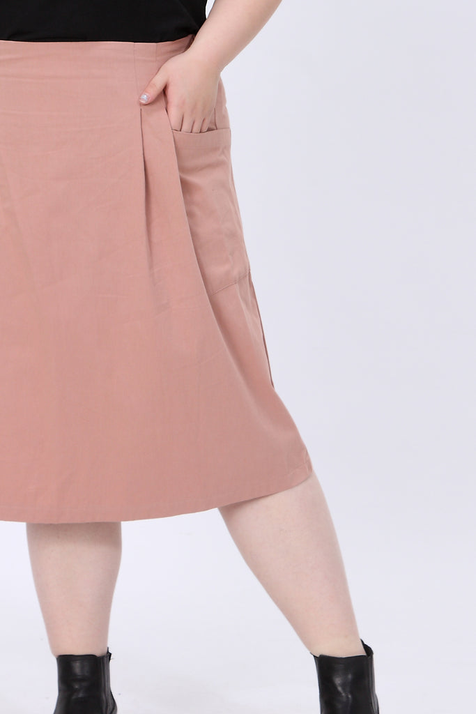Dusty Pink Pocket Skirt