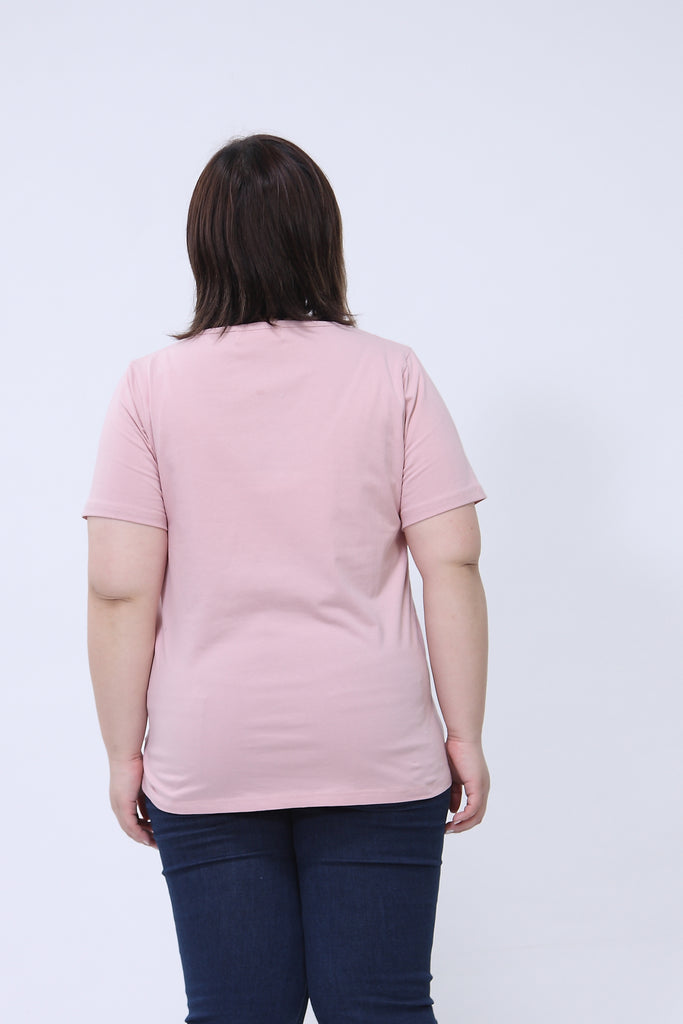 Basic Crew Neck Pink T-Shirt