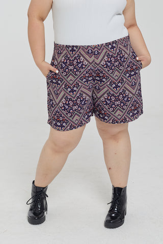 Floral Shorts In Purple