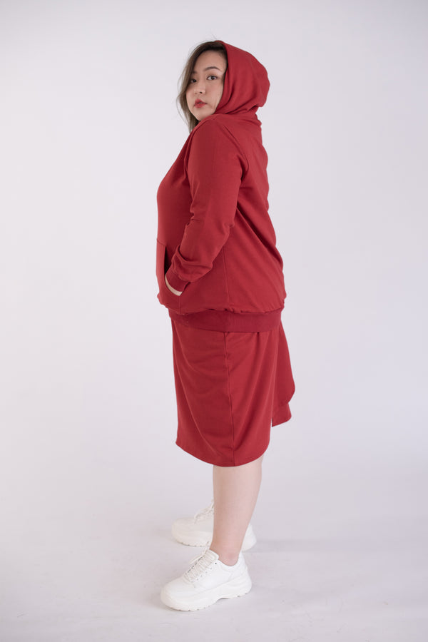 Sweat Skirt In Red