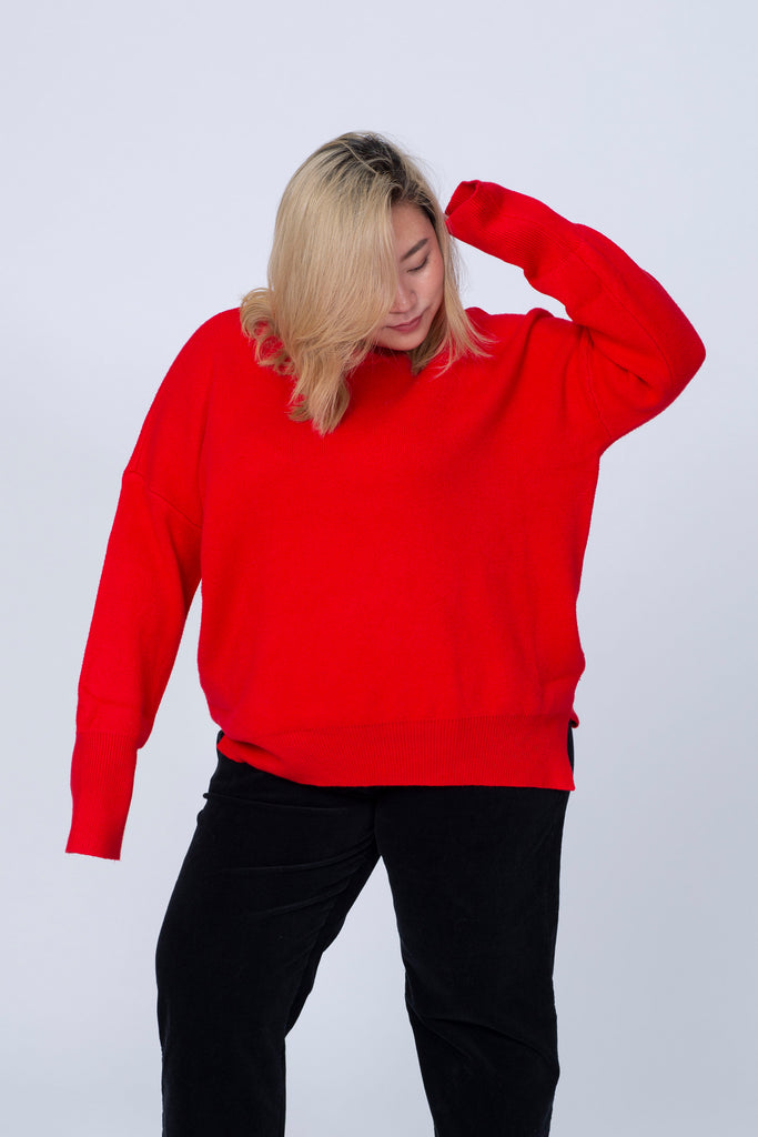 Oversized Jumper In Red
