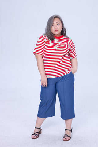 Stripe T-Shirt In Red