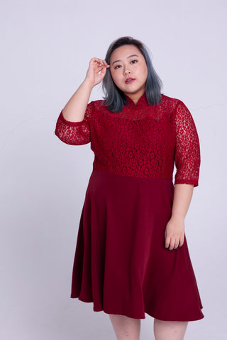 Cheongsam Style Dress In Red