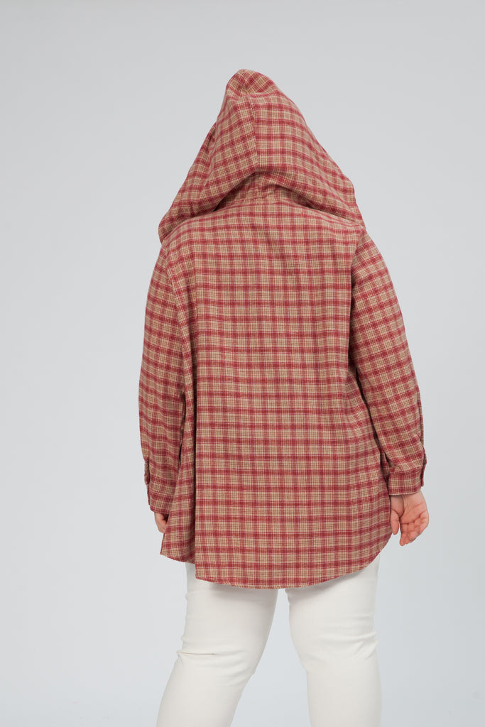 Checked Shirt With Hoodie