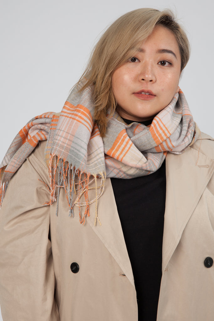 Scarf In Check Print