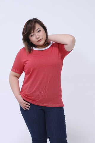 Basic Red Striped T-Shirt