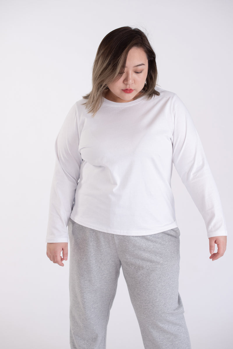 Long Sleeves T-shirt In White
