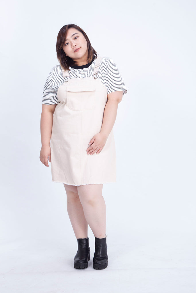 White Dungarees Dress
