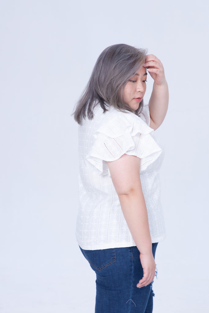 Broderie Shirt In White