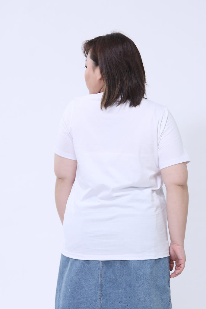 Basic Crew Neck White T-Shirt