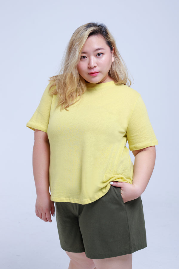 Basic T-shirt In Yellow