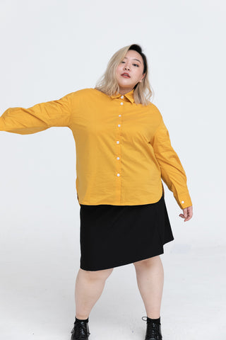 Puff Sleeves Shirt In Yellow