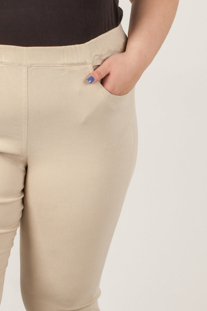 Brown Polyester Long Trousers