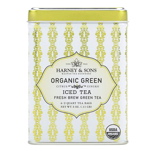 Harney & Sons - Organic Green w/Citrus & Ginko ICED TEA  (6 Ct)