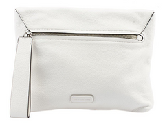 Marc Jacobs Shape Shifter White Leather Clutch