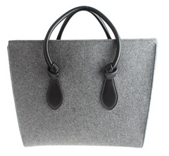 Celine Tie Knot Grey Fabric Tote
