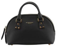 Burberry Bloomsbury Black Leather Satchel