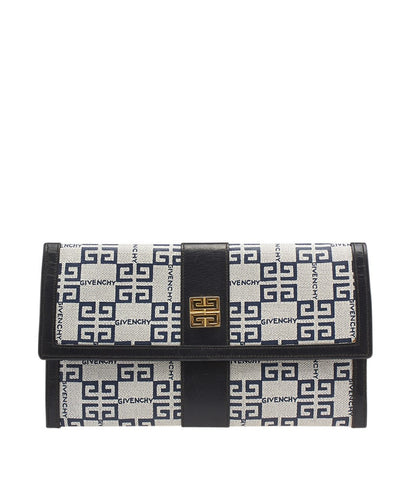 Celine Large Diagonal Flap On Chain White & Black Leather Crossbody Bag