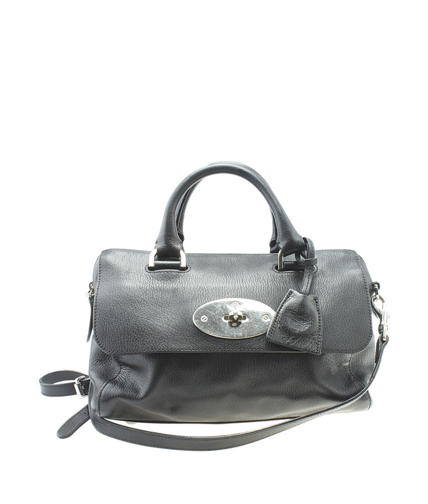 Mulberry Del Rey Black Leather 2- Way Bag