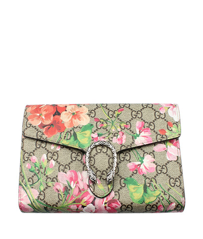 Chanel O- Case Multi-Color Floral Fabric Clutch