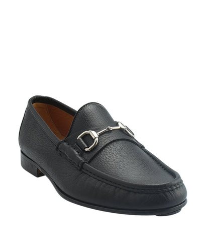 Gucci Black Leather Loafers, Size 7