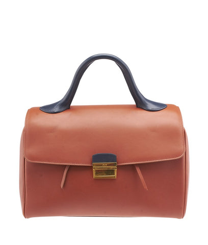 Celine Brick Camel Leather Top-Handle Satchel