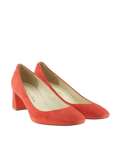 Bettye Muller Barrow Red Suede Pumps, Size 37.5