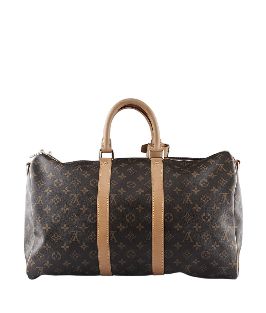 00b40000c3770 Louis Vuitton Keepall 45 Bandouliere Monogram Coated Canvas Duffle Bag