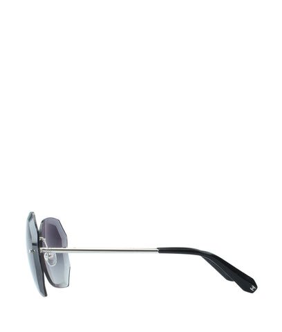 Chanel 4220 Silver & Black Metal Rimless Sunglasses