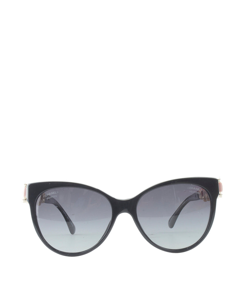 Chanel 5336-H-B Black Metal & Plastic Designer Sunglasses