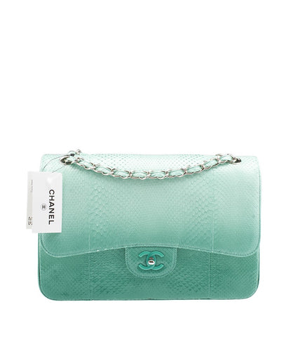 Chanel Green Snakeskin Shoulder Bag