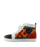 Christian Louboutin Tipiho Multi-Color Leather & Suede Sneakers, Size 6.5