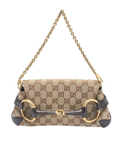 Gucci 114923 Horsebit GG Canvas Pochette
