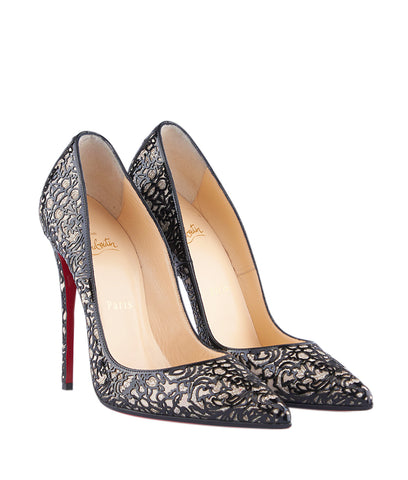 Christian Louboutin So Pretty 120 Black Patent Leather Heels, Size 8.5