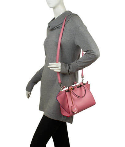 Fendi Petite 3Jours Pink Leather Tote
