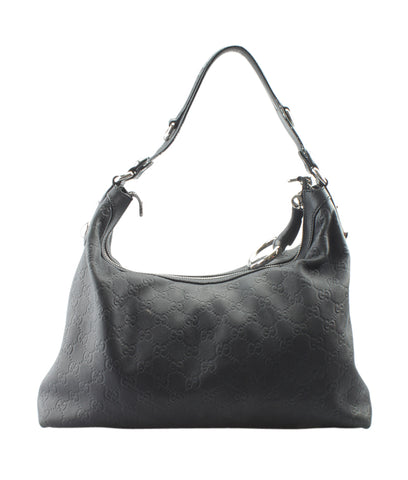 Gucci 137379 Anita Green Solid Leather Hobo