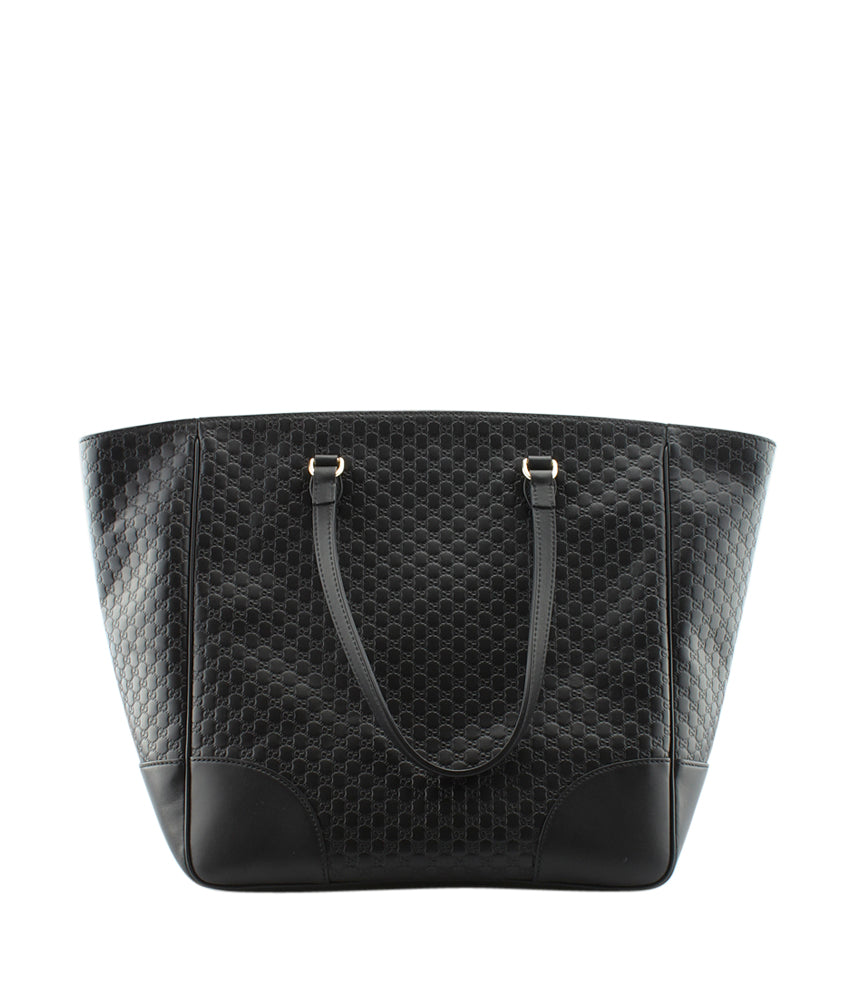da7bcf09665 Gucci 449242 Bree Black Microguccissima Leather Tote