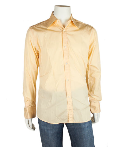 Gucci Cream Cotton Button Down Shirt