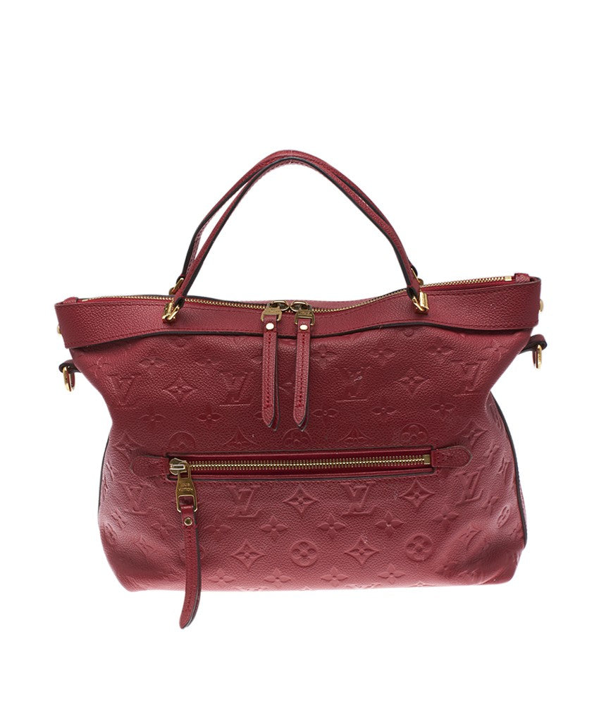 Louis Vuitton Bastille PM Red Empreinte Leather Shoulder Bag