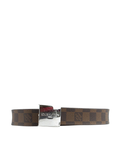 Louis Vuitton Damier Ebene Belt, Size 32