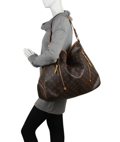 Louis Vuitton M40354 Delightful GM Brown Monogram Coated Canvas Hobo