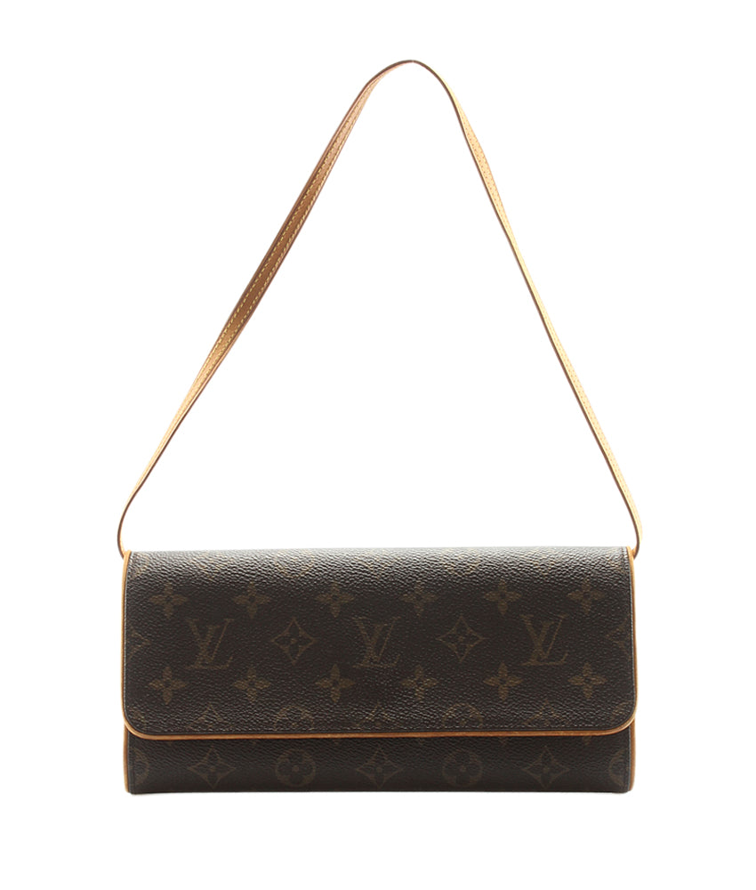 Louis Vuitton M51852 Pochette Twin GM Monogram Coated Canvas Shoulder Bag