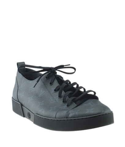 Louis Vuitton 1A2R4O Match Up Black Eclipse Monogram Sneakers, Size 10