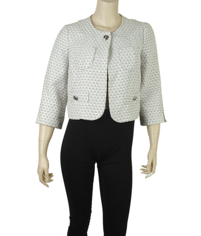 Marc By Marc Jacobs Glitter Grey Cotton Blazer, Size 8